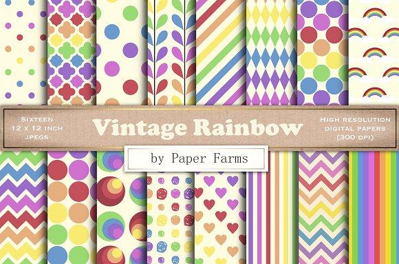 Retro Rainbow Patterns