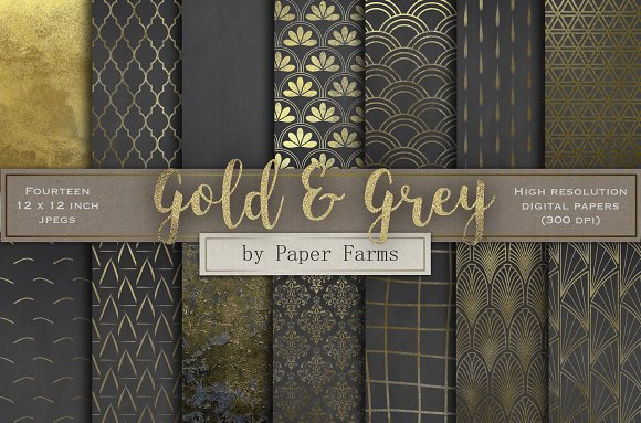 Gold And Grey Patterns