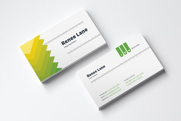architect business card template - Architect Business Card