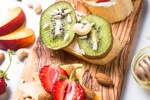 Sweet fruit sandwich