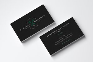Barbber & Tattoo Salon Business Card