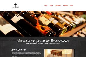 Gourmet - Restaurant WordPress Theme