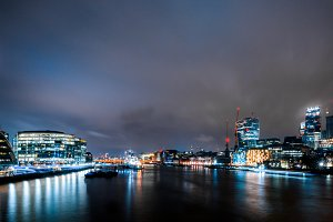 London at Night From Tower Bridge