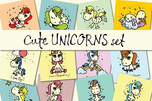 Cute UNICORN set