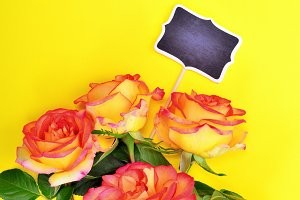 Bouquet of five roses