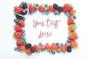Summer Fruits Frame mockup
