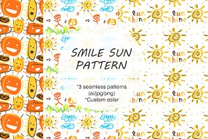 ORIGINAL SMILE/SUN SEAMLESS PATTERN