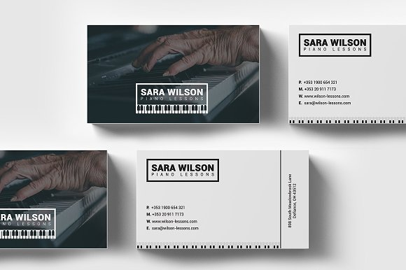 Piano Lessons Business Card Template Business Card Templates