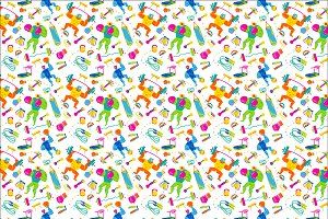 FITNESS THEME SEAMLESS PATTERN