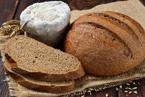 Rye bran bread