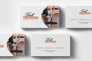 Cleaning - Business Card Template
