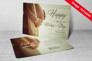 Mother's Day Postcard PSD Template
