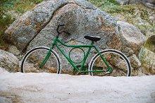 old vintage green bike