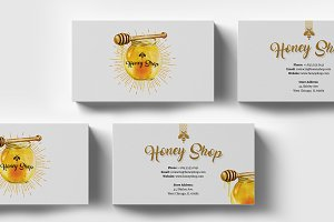 Honey Shop Business Cart Template