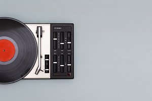 Record player header