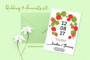 Summer Wedding Invitation Set