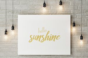 Hello Sunshine - wall art, print