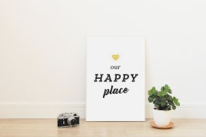 Our Happy Place - printable poster