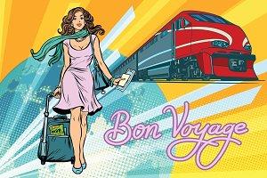 Railroad passenger train, Bon voyage