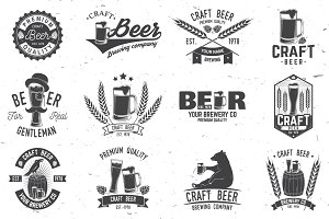 Vintage design for bar, pub and restaurant business.