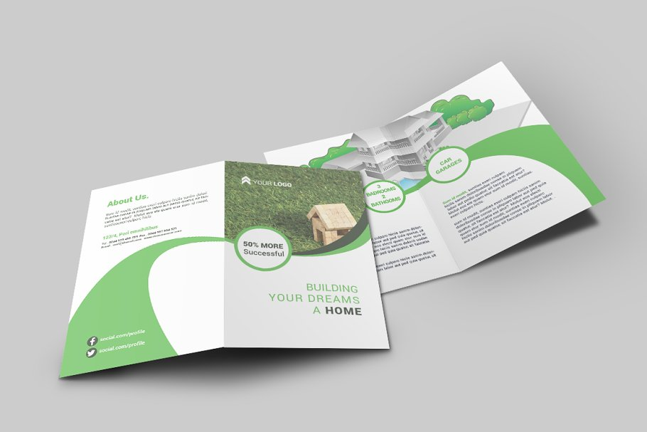 commercial real estate agents bi fold brochure template.html