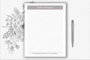 Pattern Letterhead Template