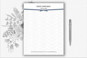 Leaves Pattern and Bow Letterhead