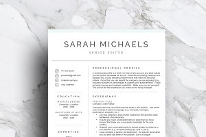 Resume Template| CV (1, 2 & 3 Page)