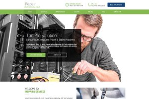 Computer, Phone Repair Website Theme