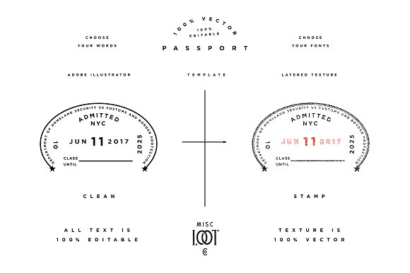 Passport Template ~ Graphic Objects ~ Creative Market