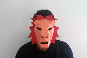 DIY Lion Mask - 3d papercrafts