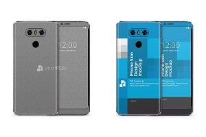 LG G6 Mobile Skin Design Mockup