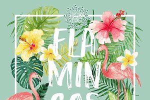 Flamingos summer design