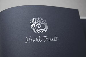 Heart Fruit Logo Template