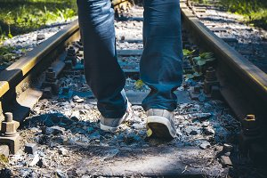 Walking on the railway