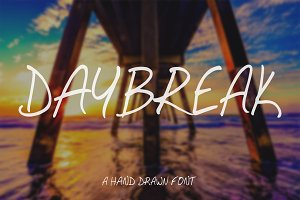 Daybreak - Hand Drawn Font
