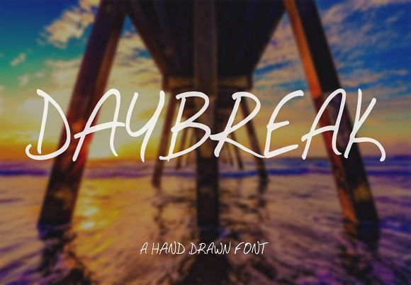 Daybreak Hand Drawn Font