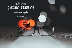 Mono line 01 font