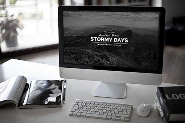 WordPress Minimal Themes: PremiumCoding - Stormy Day - Wordpress Blog Theme