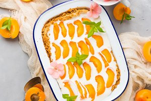 Home made apricot not baked cheese cake