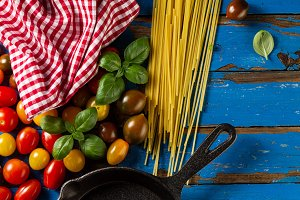 Food Cooking Concept. Italian Food