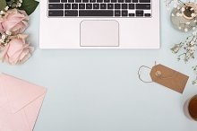 Romantic laptop hero header