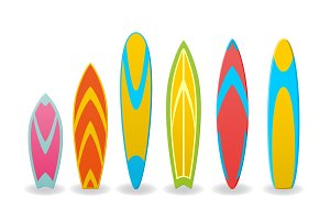Vector illustration of a surfboards