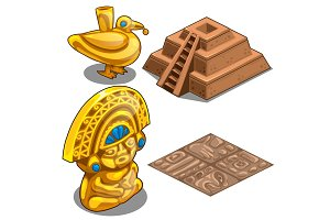 Golden Maya objects