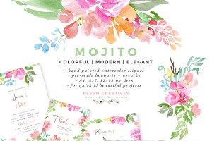 Mojito - Watercolor Clipart Bundle