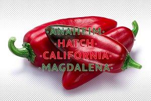 Ripe Anaheim chiles