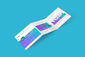 Square Z-Fold Brochure Mockups