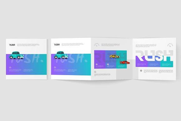square z fold brochure mockups product mockups creative market