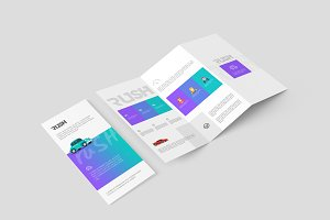 A4 Z-Fold Brochure Mock-Up