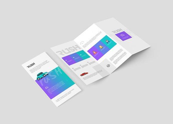 a4 z fold brochure mock up product mockups creative market